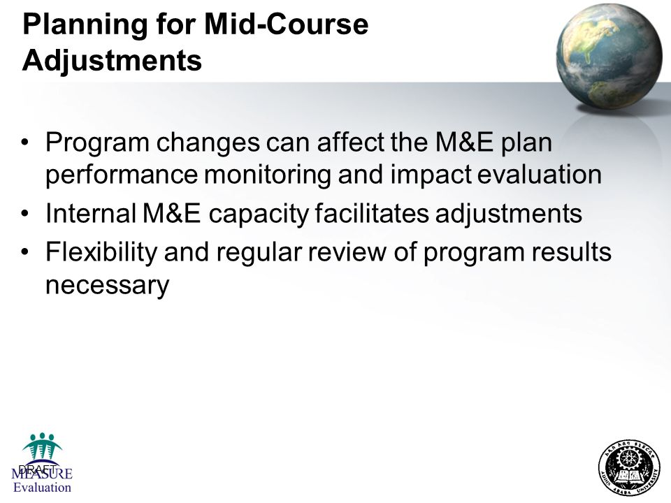 Planning for Mid-Course Adjustments