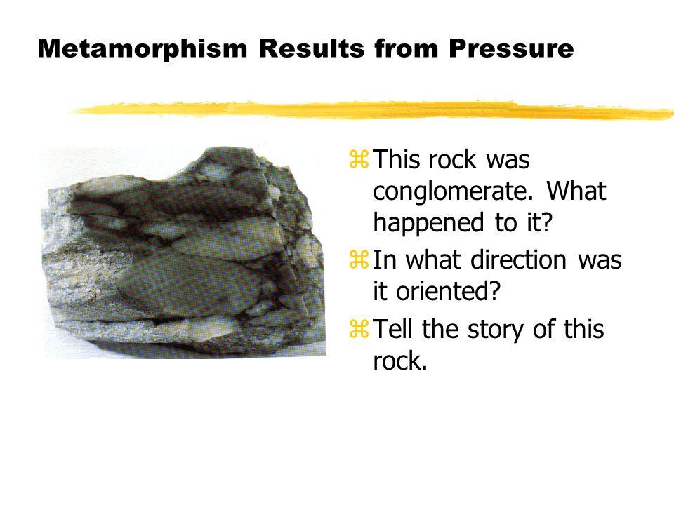 Metamorphism Results from Pressure
