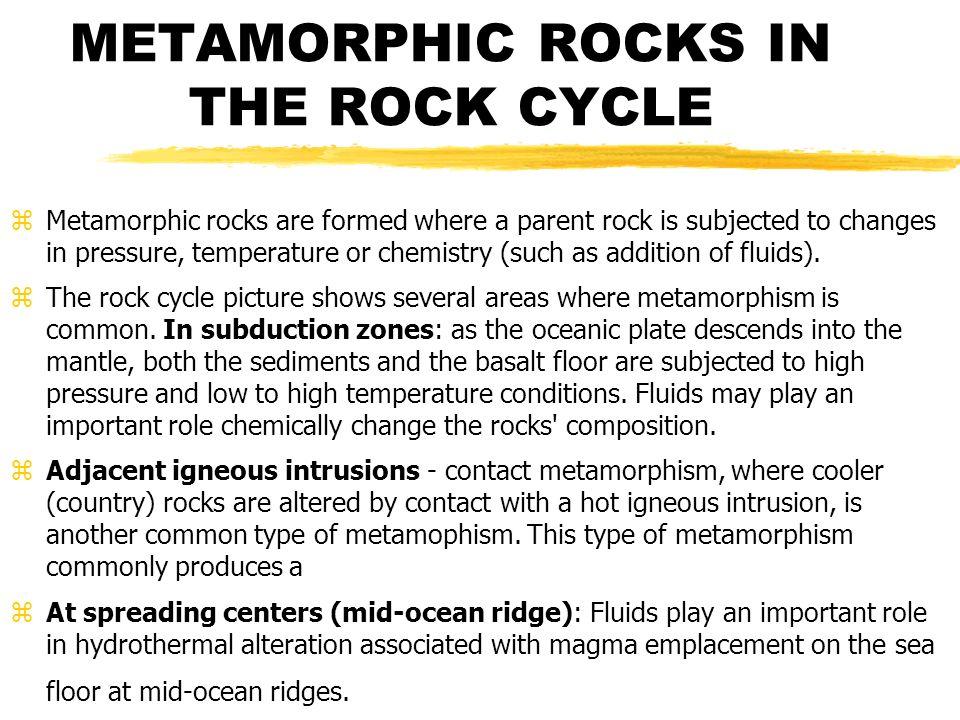 METAMORPHIC ROCKS IN THE ROCK CYCLE