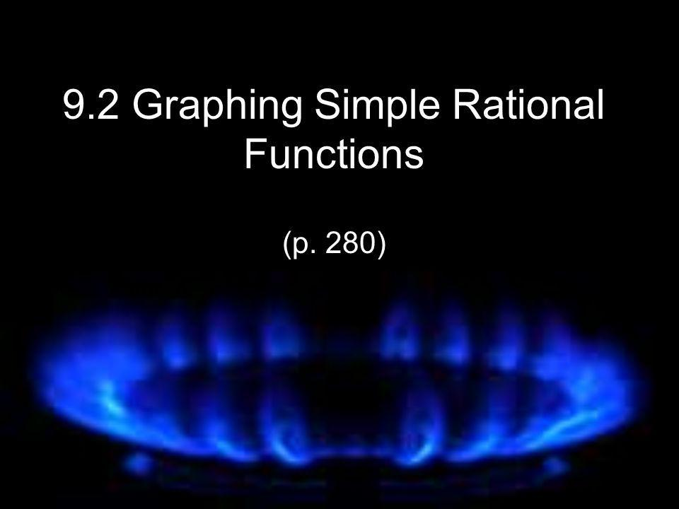 9.2 Graphing Simple Rational Functions