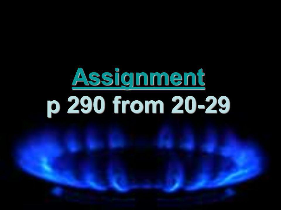 Assignment p 290 from 20-29