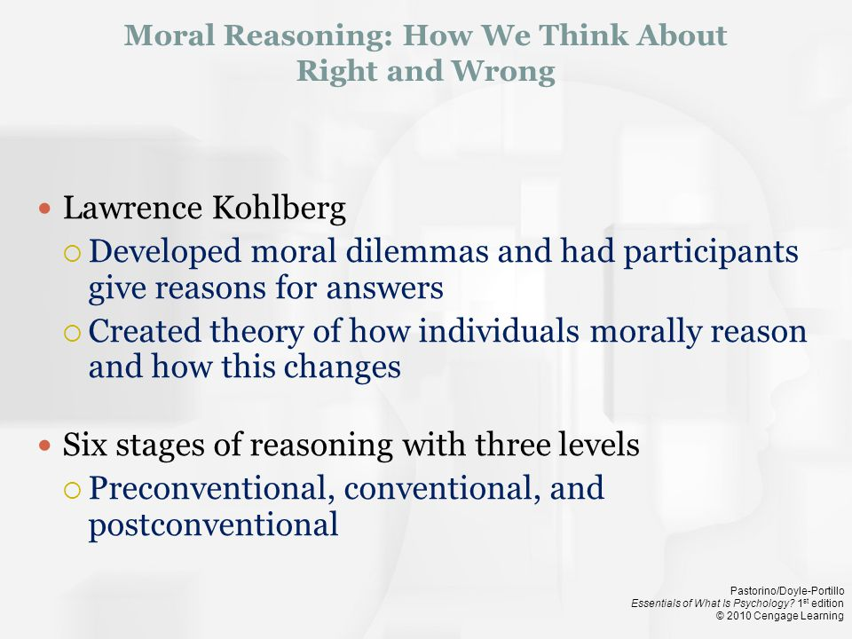 Moral Reasoning: How We Think About Right and Wrong