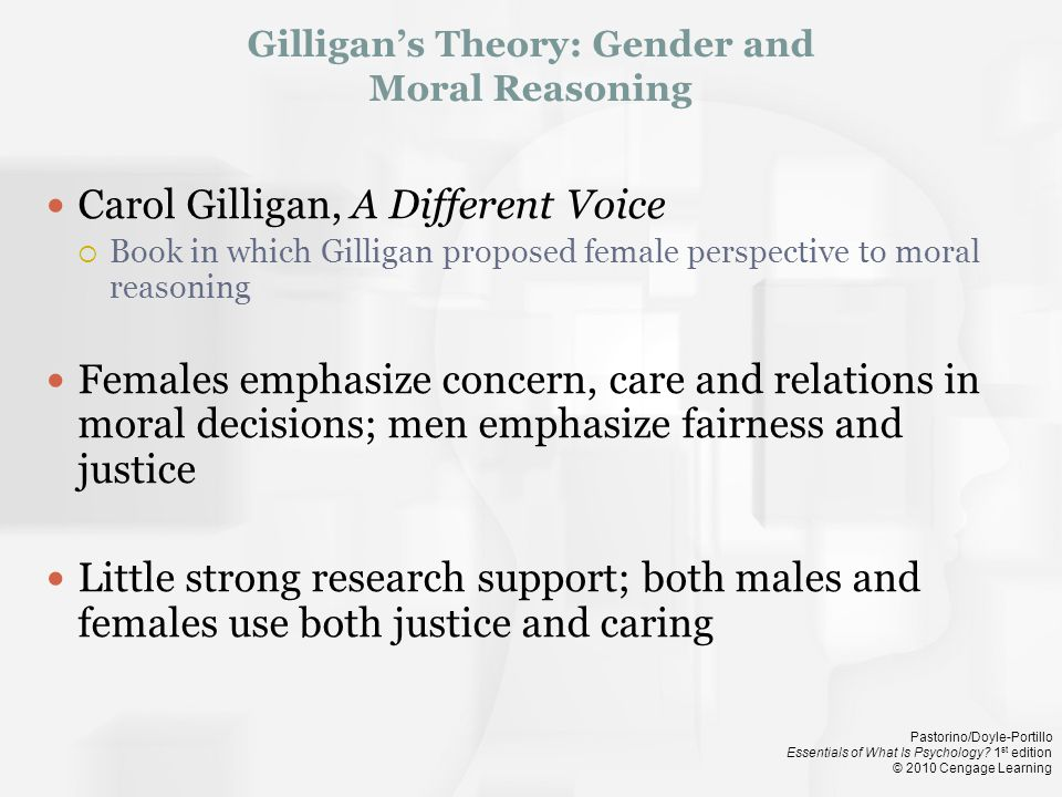 Gilligan's Theory: Gender and Moral Reasoning