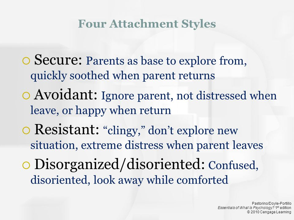 Four Attachment Styles