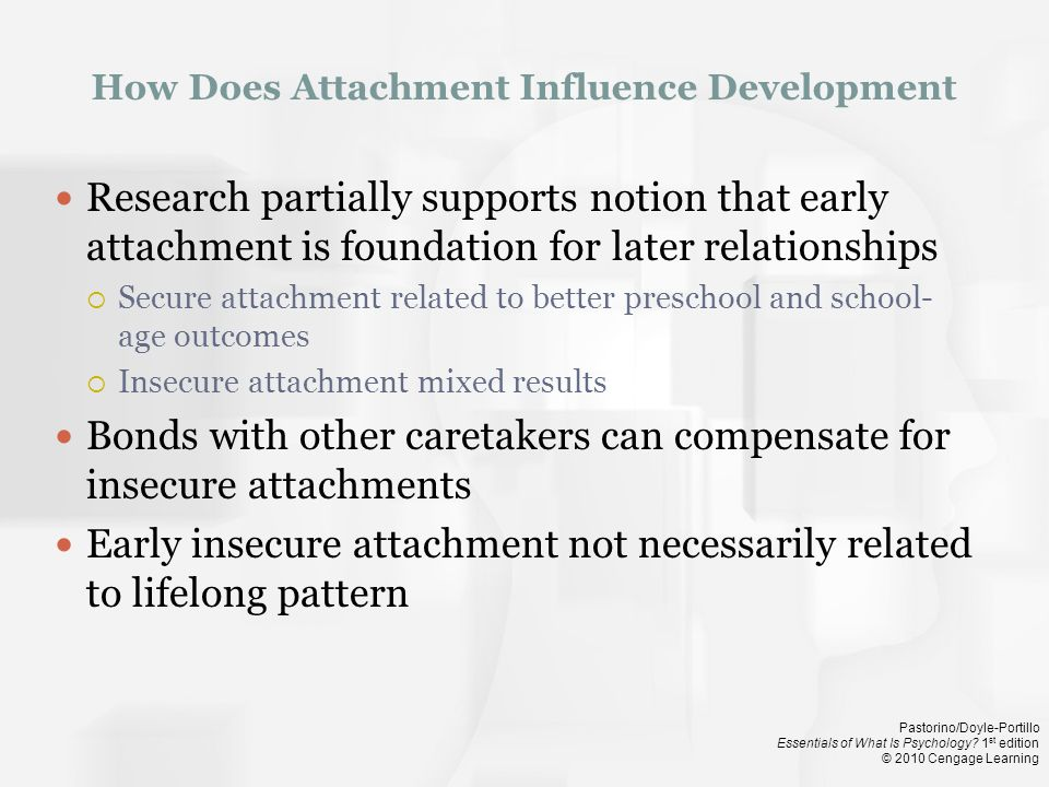 How Does Attachment Influence Development