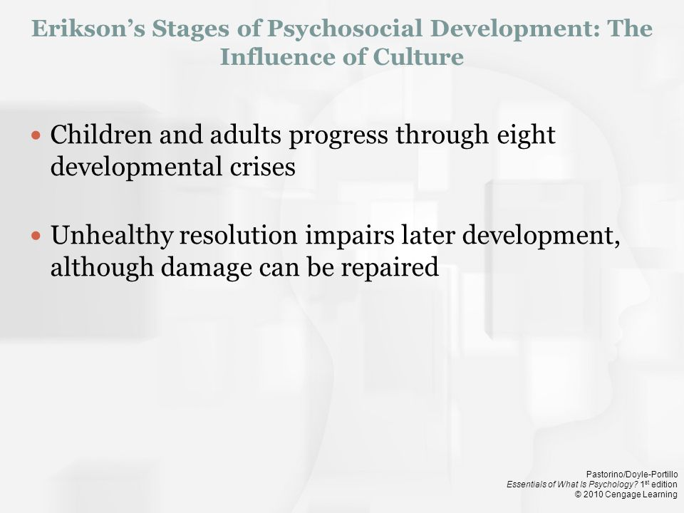 Erikson's Stages of Psychosocial Development: The Influence of Culture
