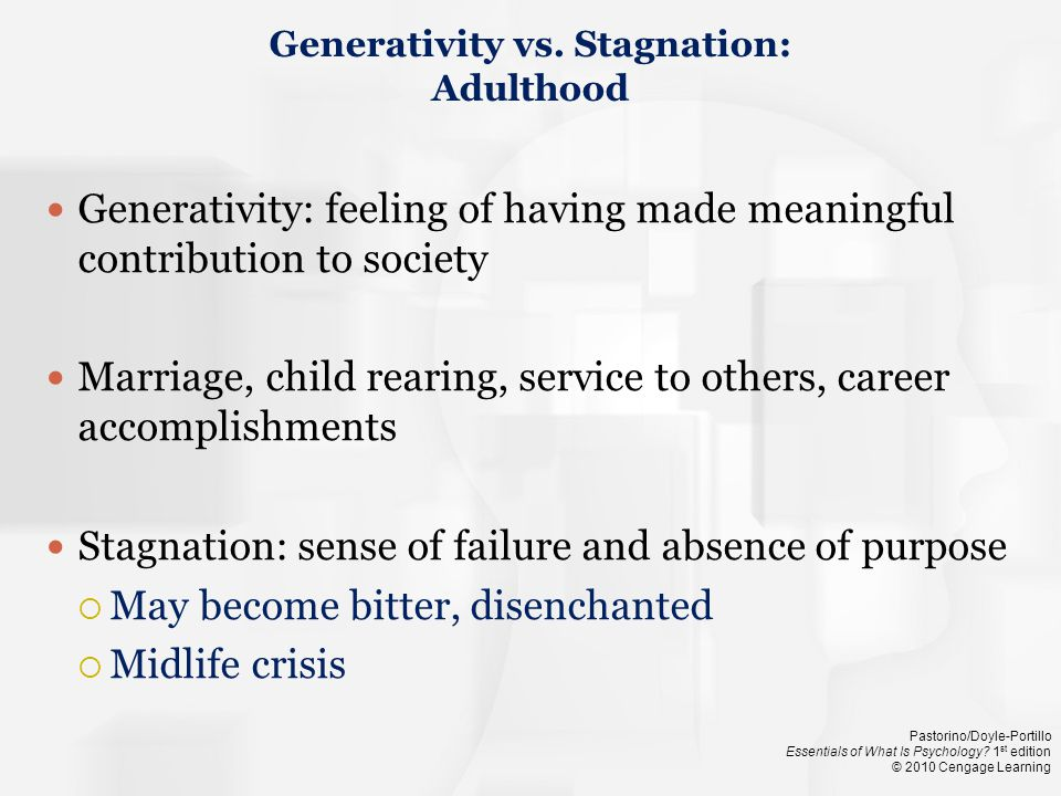 Generativity vs. Stagnation: Adulthood