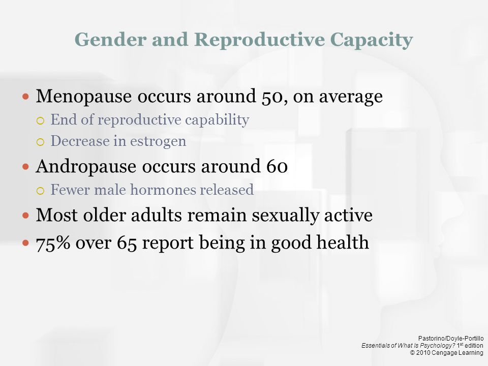 Gender and Reproductive Capacity