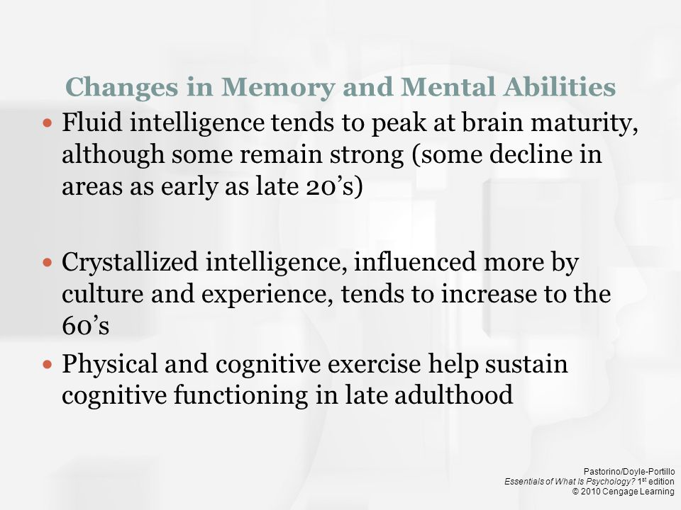 Changes in Memory and Mental Abilities