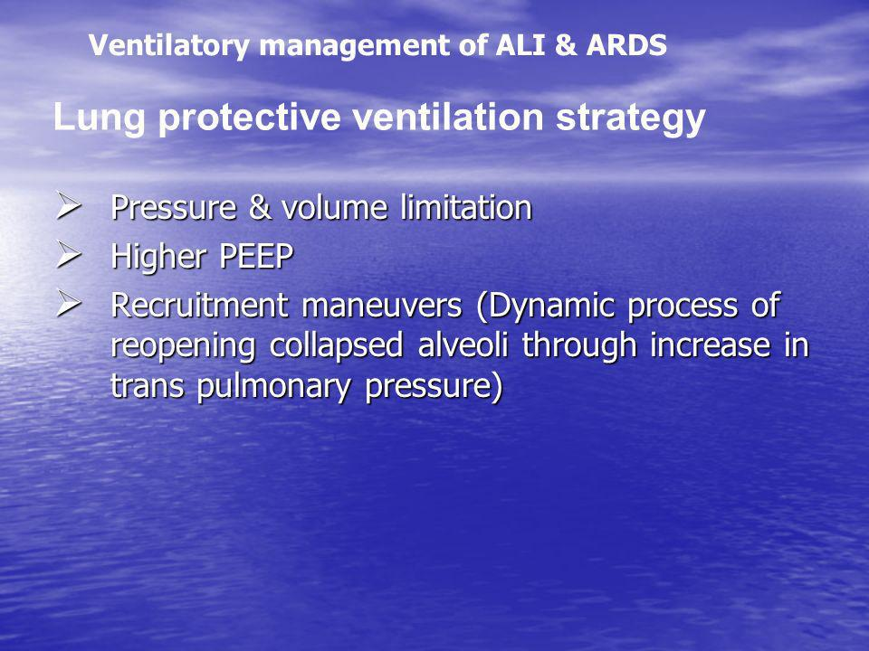 Lung protective ventilation strategy