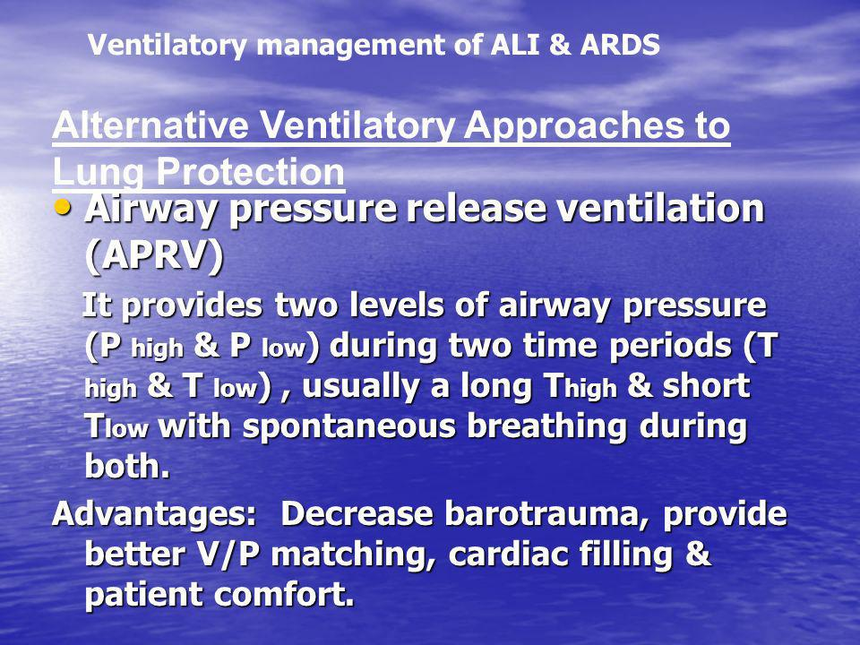 Alternative Ventilatory Approaches to Lung Protection