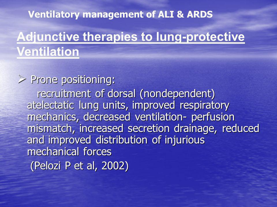 Adjunctive therapies to lung-protective Ventilation