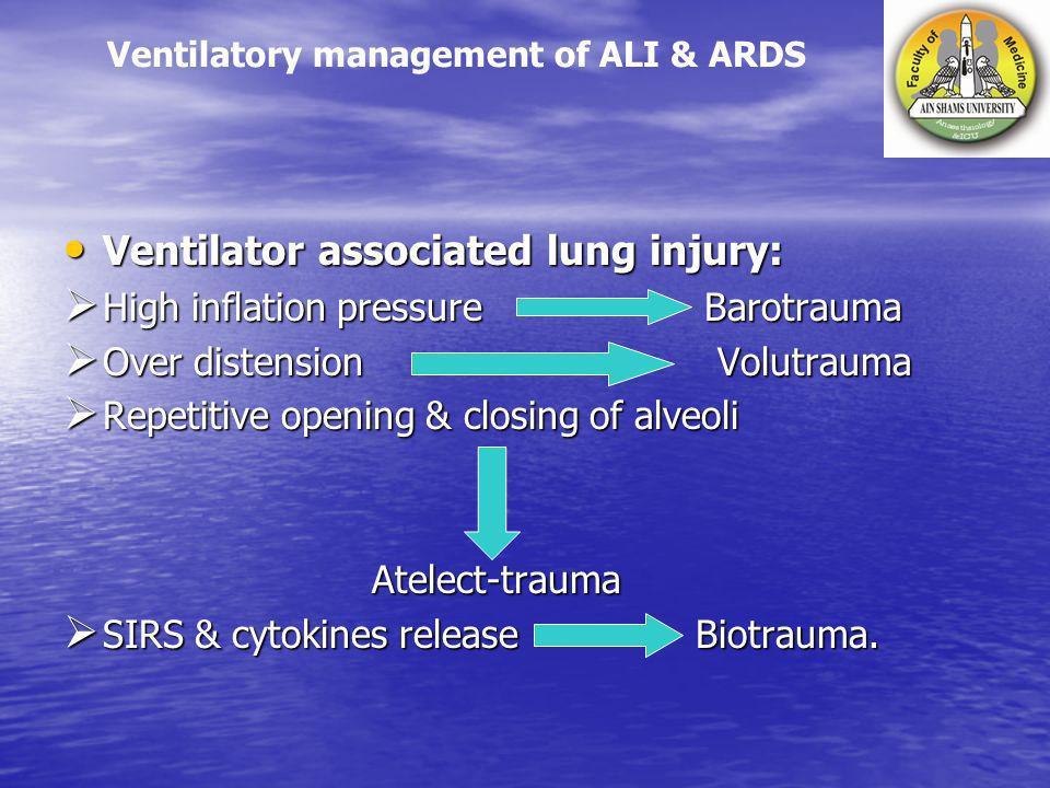 Ventilator associated lung injury: