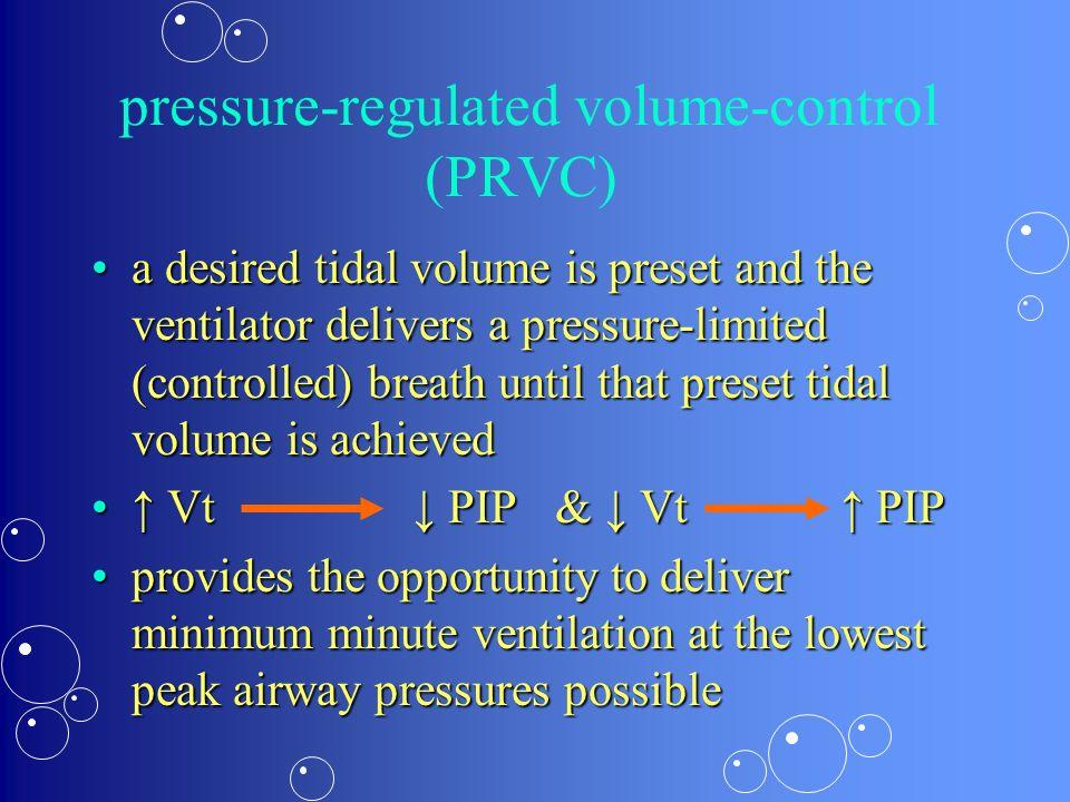 pressure-regulated volume-control (PRVC)