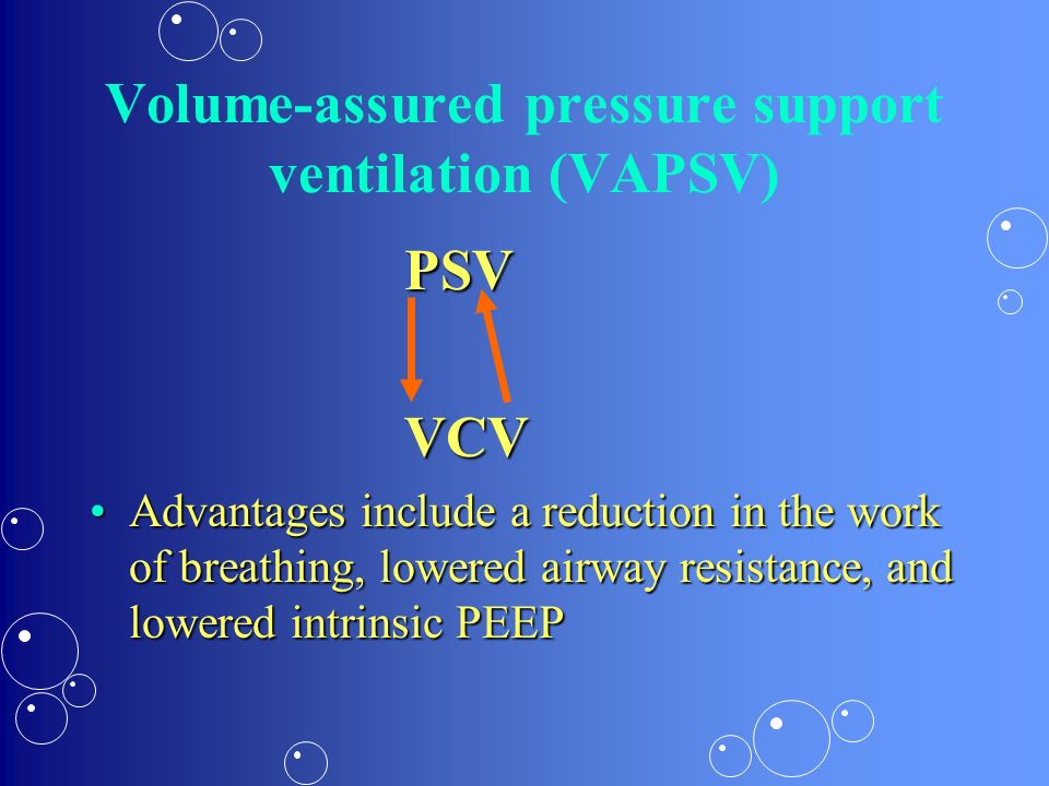 Volume-assured pressure support ventilation (VAPSV)