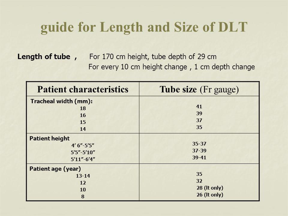 guide for Length and Size of DLT