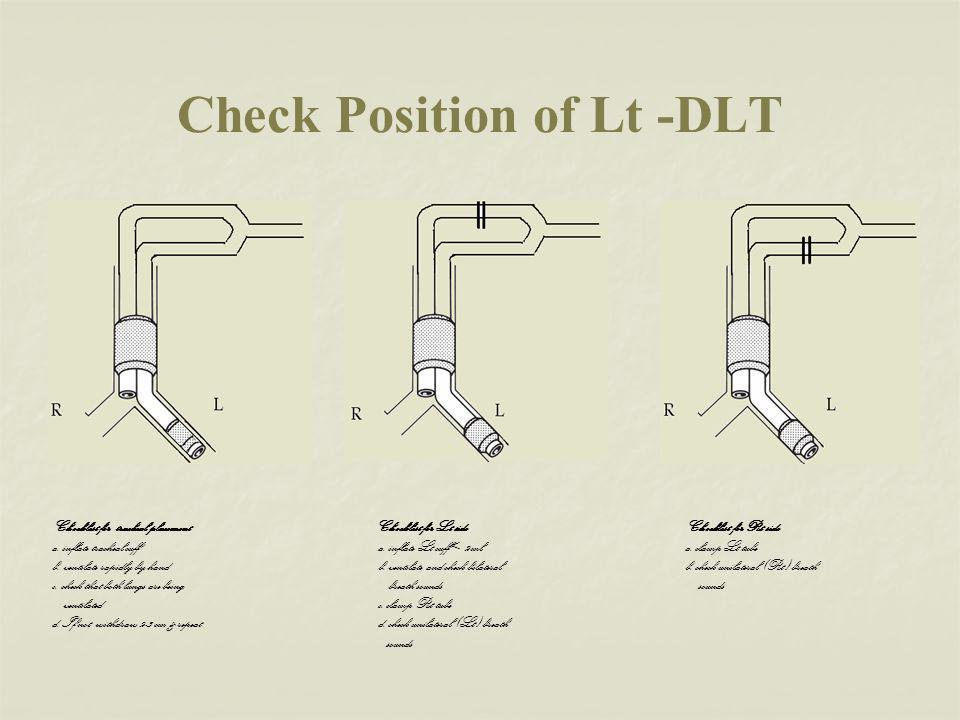 Check Position of Lt -DLT