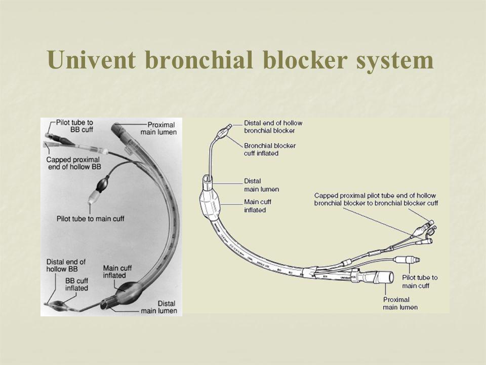 Univent bronchial blocker system