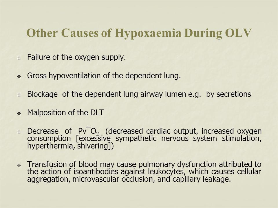 Other Causes of Hypoxaemia During OLV