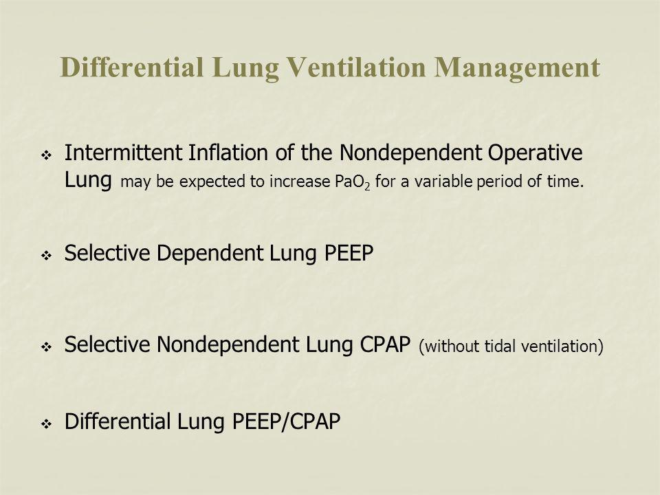 Differential Lung Ventilation Management