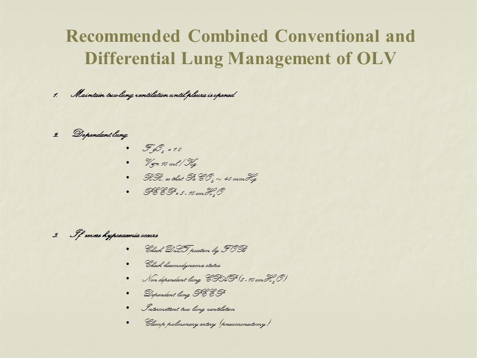 Recommended Combined Conventional and Differential Lung Management of OLV