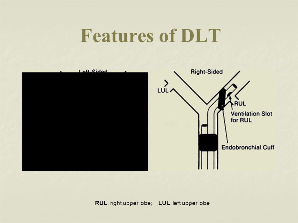 Features of DLT RUL, right upper lobe; LUL, left upper lobe