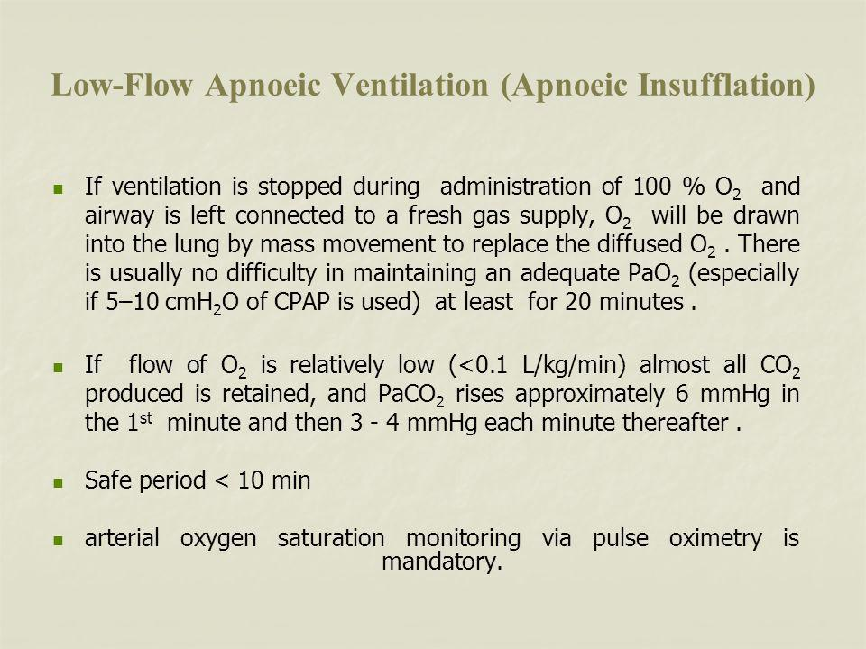 Low-Flow Apnoeic Ventilation (Apnoeic Insufflation)
