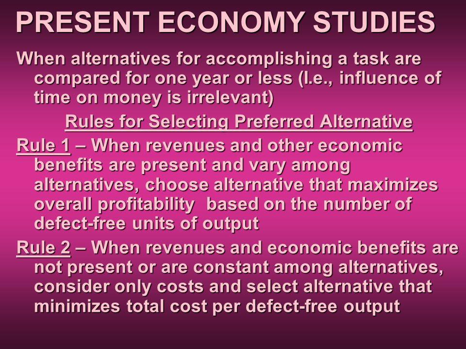 PRESENT ECONOMY STUDIES