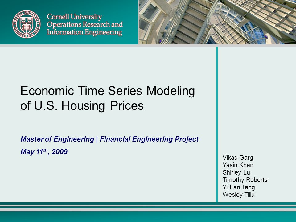 Economic Time Series Modeling of U.S. Housing Prices