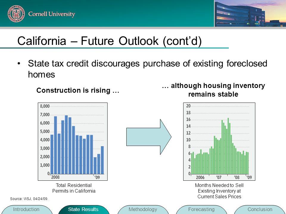California – Future Outlook (cont'd)