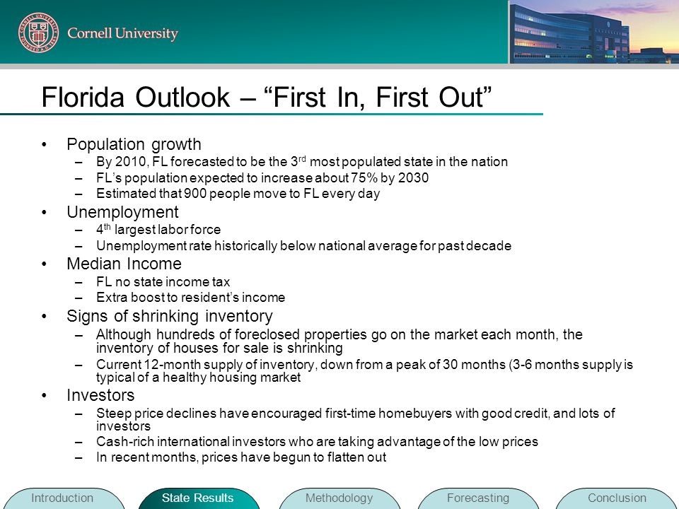 Florida Outlook – First In, First Out