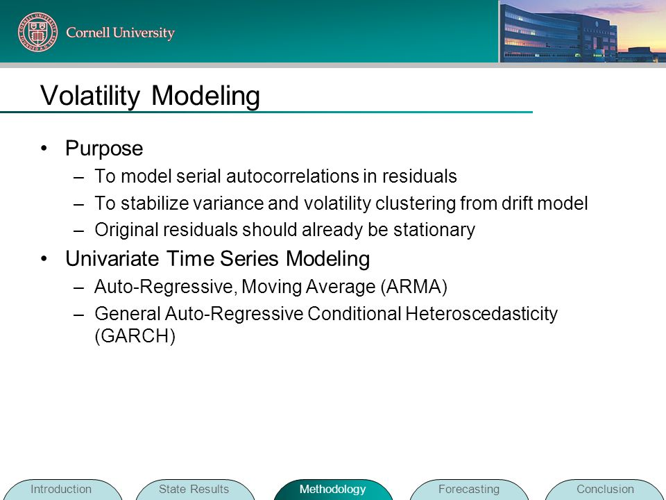 Volatility Modeling Purpose Univariate Time Series Modeling