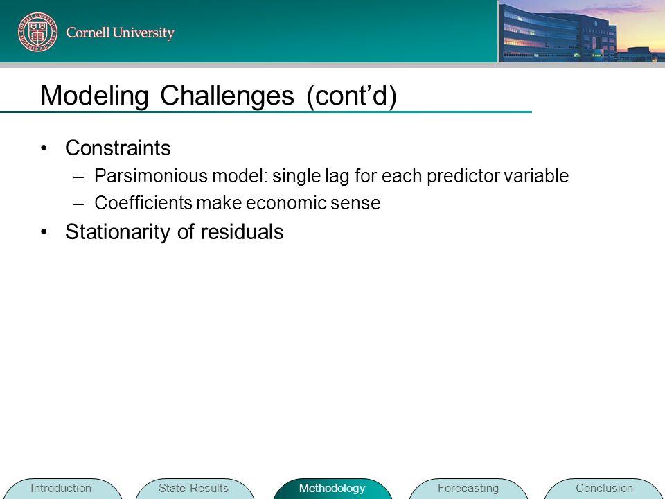 Modeling Challenges (cont'd)