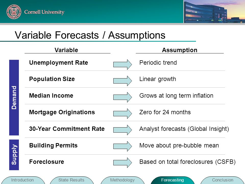 Variable Forecasts / Assumptions
