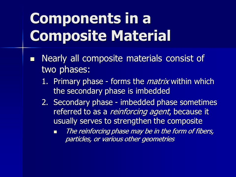 Components in a Composite Material