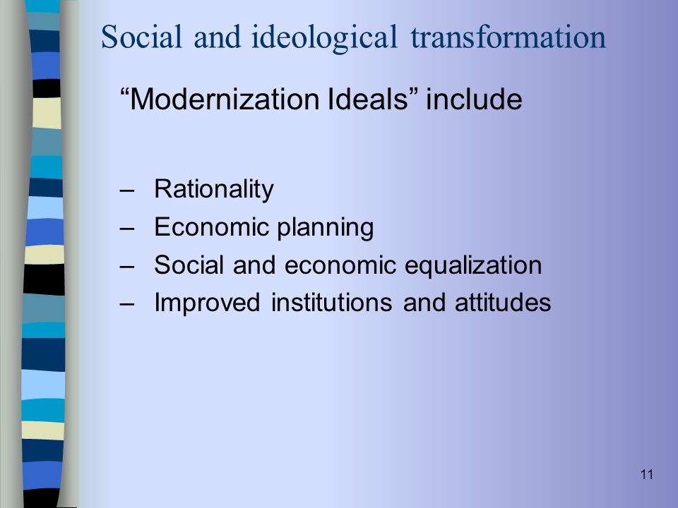 Social and ideological transformation