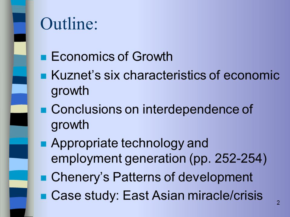 Outline: Economics of Growth