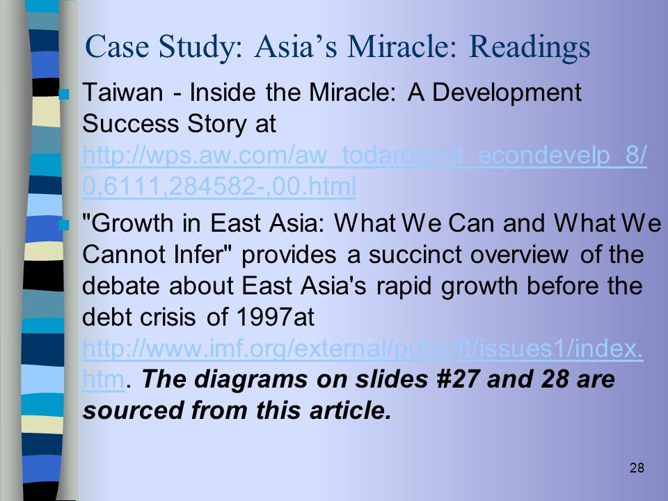 Case Study: Asia's Miracle: Readings