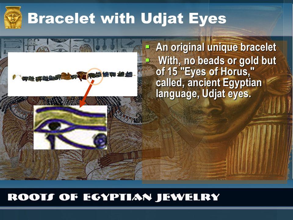 Bracelet with Udjat Eyes