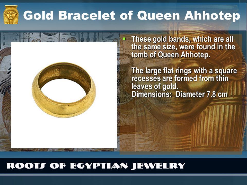 Gold Bracelet of Queen Ahhotep