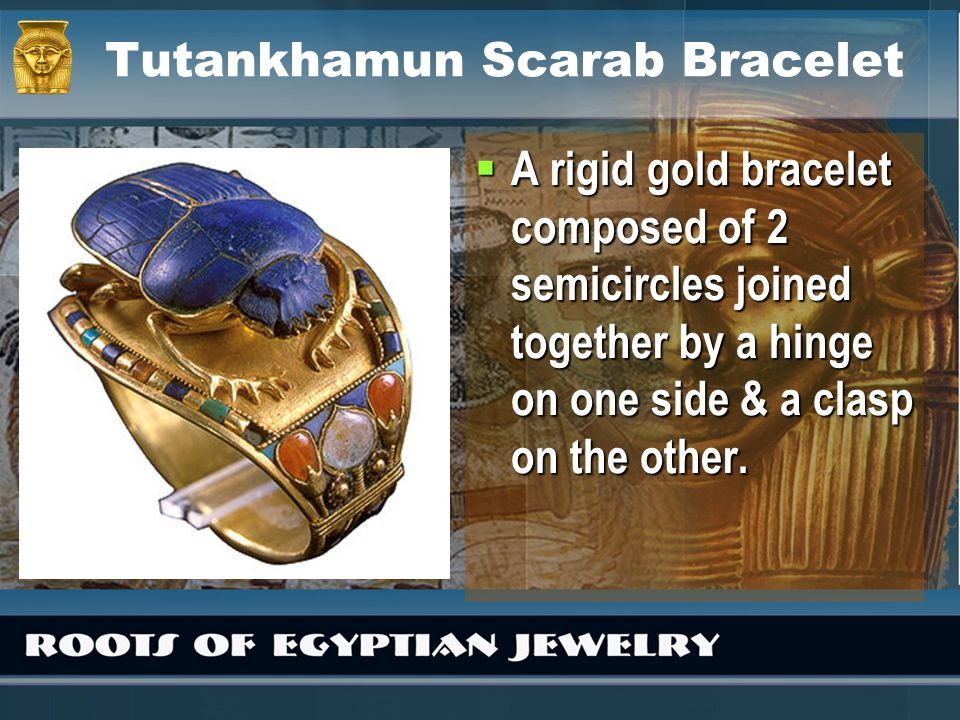 Tutankhamun Scarab Bracelet