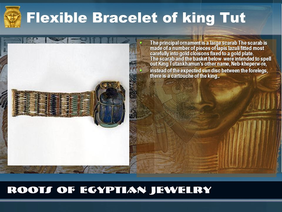 Flexible Bracelet of king Tut