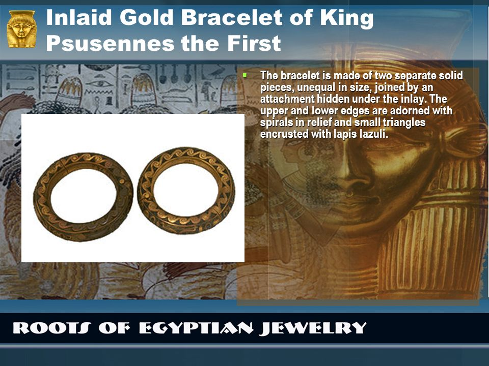 Inlaid Gold Bracelet of King Psusennes the First