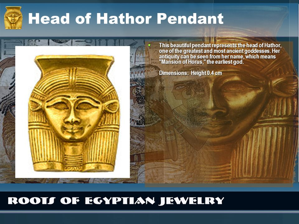 Head of Hathor Pendant