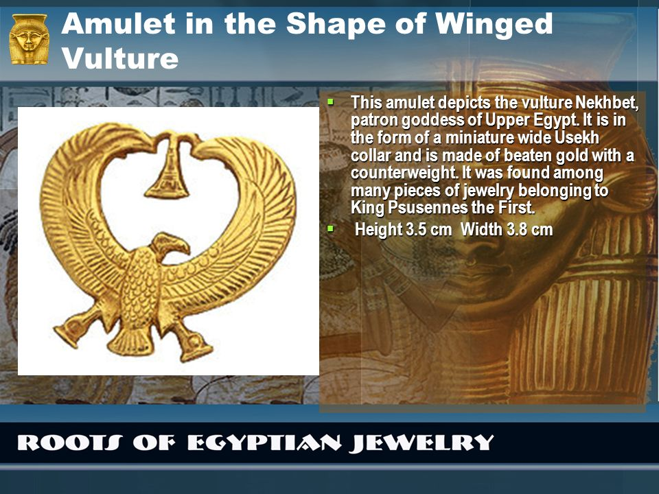Amulet in the Shape of Winged Vulture
