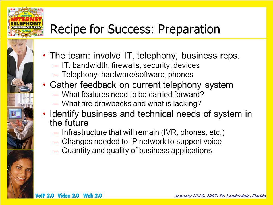 Recipe for Success: Preparation