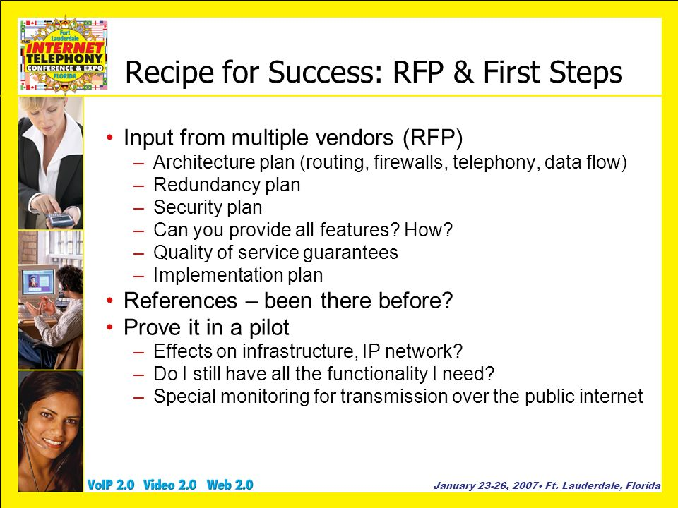 Recipe for Success: RFP & First Steps