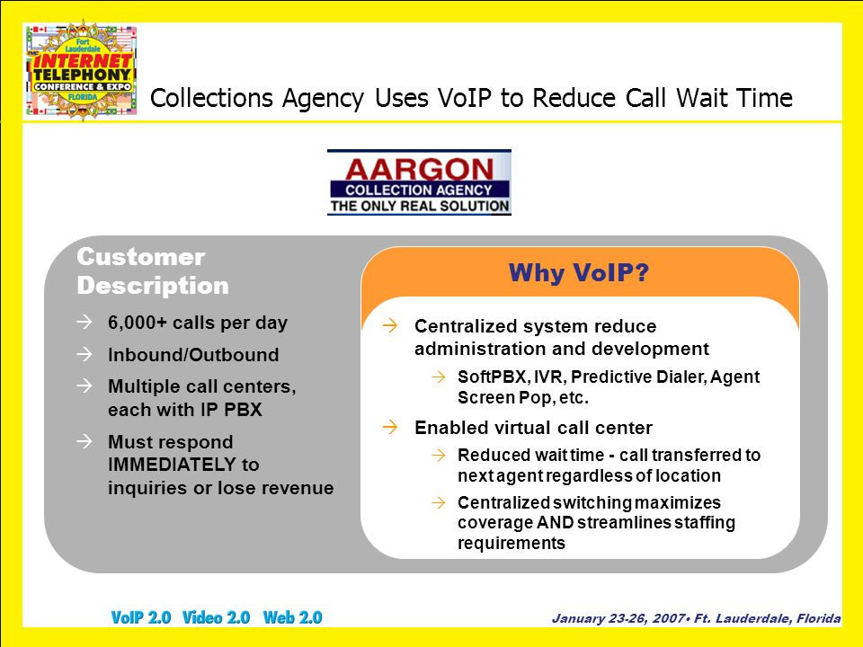 Collections Agency Uses VoIP to Reduce Call Wait Time