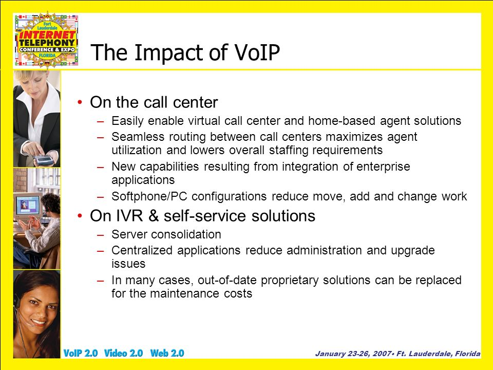 The Impact of VoIP On the call center On IVR & self-service solutions