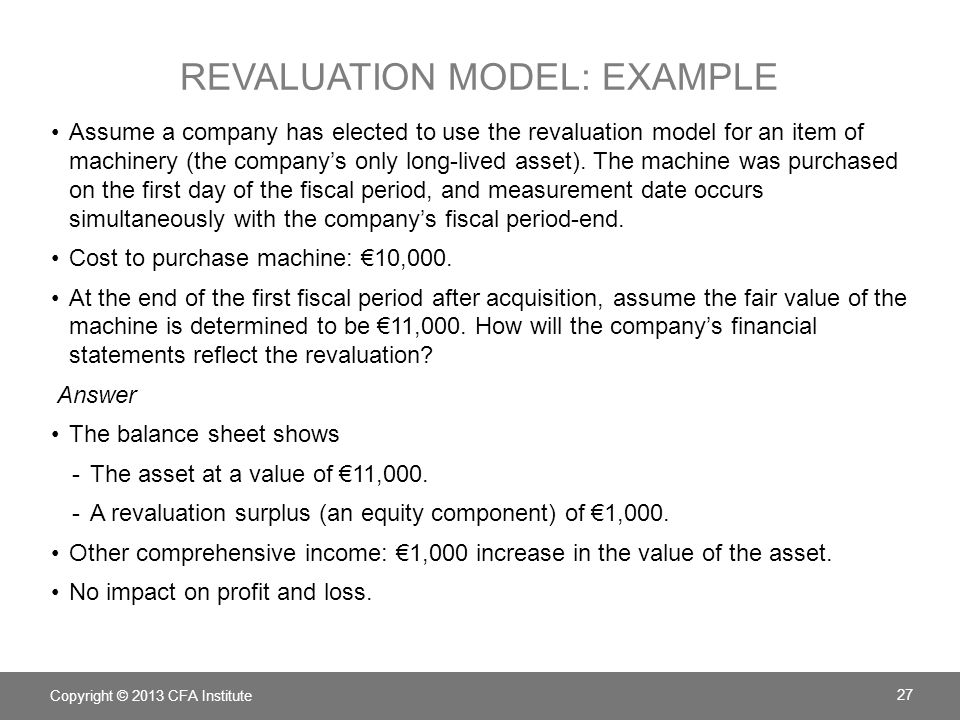 revaluation model: example